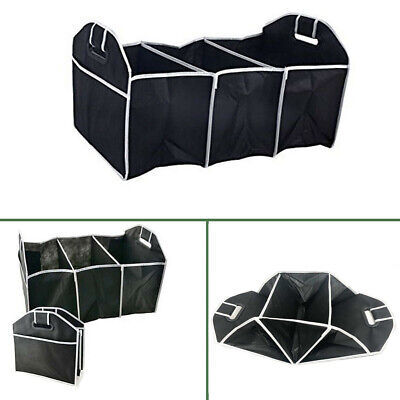 Car Boot Storage Organizer Back Organiser Tidy Travel 3 Pocket Felt Foldable Bag