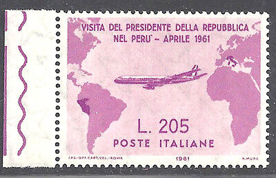 Italy stamps 1961 Airmail 205L Gronchi Rosa error APS cert (Sc 834a) MNH