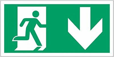 "Signs and Labels AMZFE059KRP ""Running Man Arrow Down Symbol"" Safe Condition 1.2"