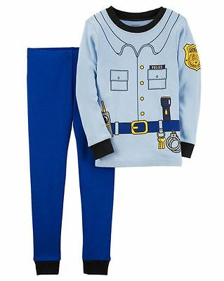 NEW Carter's 2 Piece Blue Police Dress Up PJs Cotton NWT2T 3T 4T 5T Boys