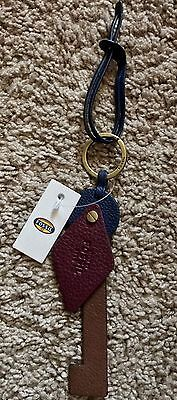 New With Tags Fossil Leather Abstract Key Bag Charm MSRP $28
