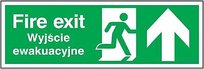 "Signs and Labels AMZML01011R ""Fire Exit Running Man"" Safe Condition Safety Sign,"
