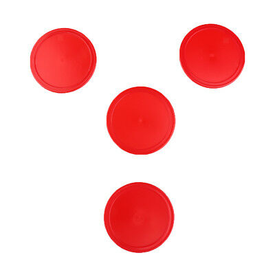 4 Pieces Red Air Hockey Pucks Set Replacements Accessories 3 Sizes Available