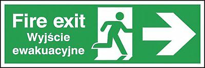 "Signs and Labels AMZML00911R ""Fire Exit Running Man"" Safe Condition Safety Sign,"