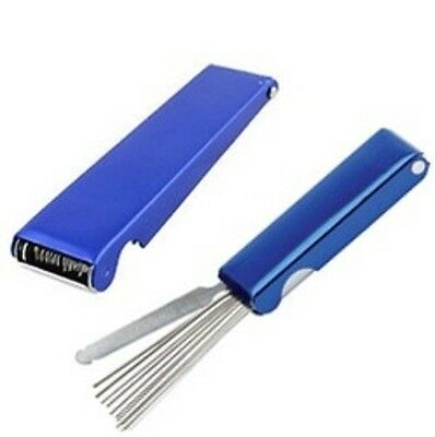 Welding Torch Nozzle Tip Cleaner Tool - 14 in 1 in Blue Metal Case