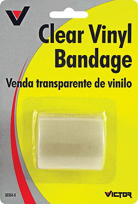 """New!! Victor Vinyl Bandage 2""""W x 60""""L Repairs all vinyl products Clear"""