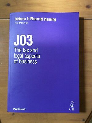 CII JO3 The tax and legal aspects of business