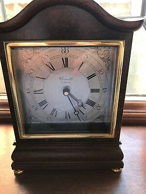 ATTRACTIVE CARRIAGE CLOCK BY COMITTI of LONDON.