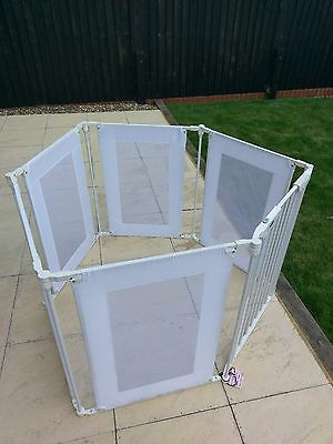 Babystart metal and fabric 6 sided playpen with safety gates extension bars