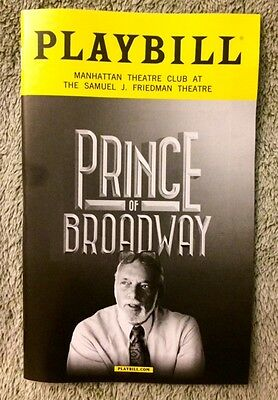 Prince of Broadway playbill - Brand new - Free next day shipping!