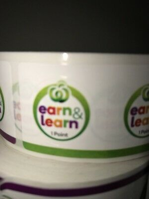 500 Earn And Learn Stickers Woolworths
