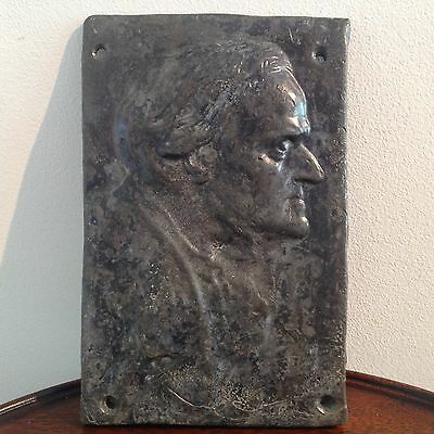 Wilhelm Richard Wagner Antique Cast Lead Wall Plaque Signed & Dated