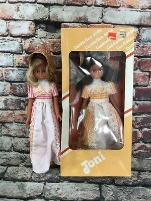 "Vintage 12"" Toni Dolls ~ Lot of 2 Made In Hong Kong by Cuddletime Dolls"