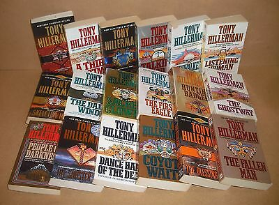 ALL 18 LEAPHORN CHEE Tony Hillerman lot Coyote Waits, Fallen Man, Ghostway, more