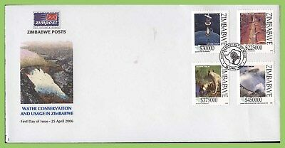 Zimbabwe 2006 Water Conservation set on First Day Cover