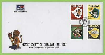 Zimbabwe 2003 History Society set on First Day Cover