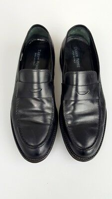 Taryn Rose Men's Black Leather Slip On Loafers Shoes Size 9.5