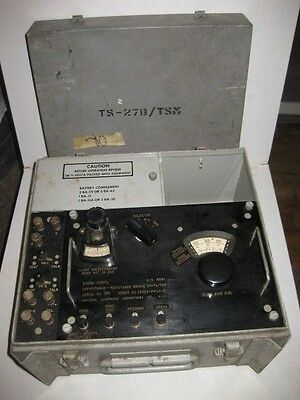 Albert Signal Corps US Army Test Set TS-27B/TSM Vintage Wire Communication Line