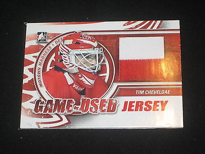 Tim Cheveldae Redwings Legend Certified Authentic Hockey Game Used Jersey Card