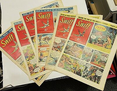 SWIFT COMICS Vols 4 & 5, 6 copies from 1957/58  Tarna Jungle Boy  Sammy in Space