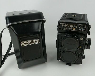 Vintage Yashica Mat 124G Camera - W/ Case Untested EXCELLENT!