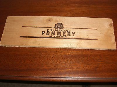 Wood Panel From Pommery Champagne Crate Reims France