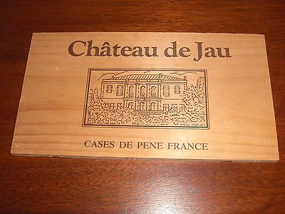 Wood Panel From Chateau De Jau Wine Crate France