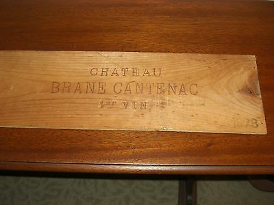 1978 Wood Panel From Chateau Brane Cantenac Wine Crate France