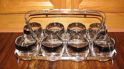 Vintage Mid Century Modern Dorothy Thorpe? Roly Poly Glasses W/Carrier Mad Men