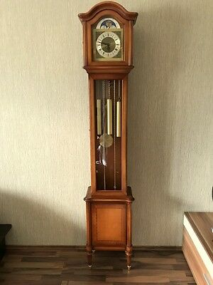 Warrings Standuhr  massives Holz Westminster Gong 3 Gewichte funktioniert