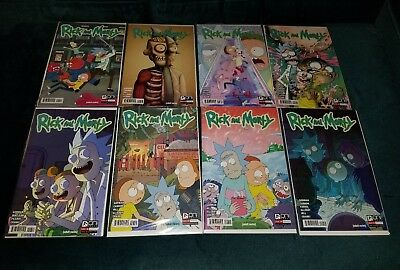 Rick and Morty Oni Press Comic Lot Issues 1 4th, 2 3rd, 3-4 2nd & 6-7 1st Print
