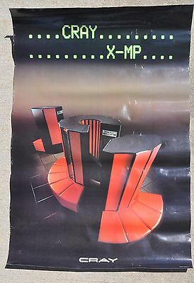 Vintage 1985 Cray Research Research XMP Super Computer Advertising Poster