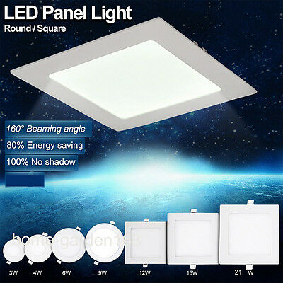 Ultra Slim Recessed LED Flat Panel Ceiling 3W 6W 9W 21W Spot Lights Downlights