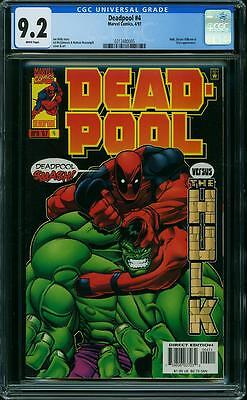 Deadpool #4 (CGC 9.2 NM-) (Marvel 1997) Classic Ed McGuinness Hulk Cover!