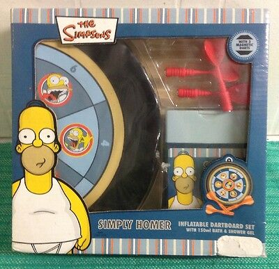 The Simpsons Inflatable Dartboard Set With 150ml Bath And Shower Gel