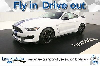 2017 Ford Mustang SHELBY GT350 5.2 V8 LESS THAN A GT350R HARD TO FIND 8250 RPM REDLINE WHITE OVER BLUE STRIPES AVAILABLE TODAY