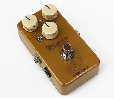 CRAZY TUBE CIRCUITS ZIGGY OVERDRIVE - Rare, Laser Etched Gold Limited Edition