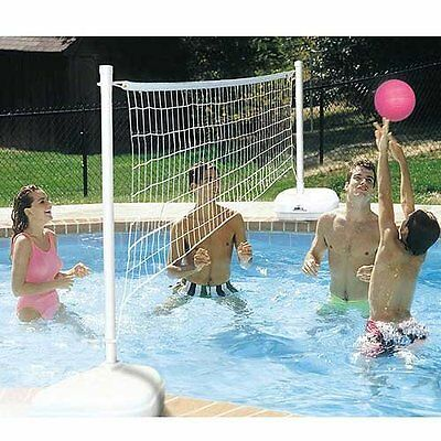 Kids & Adults Summer Outdoor Fun Game Aquavolly Swimming Pool Volleyball Set