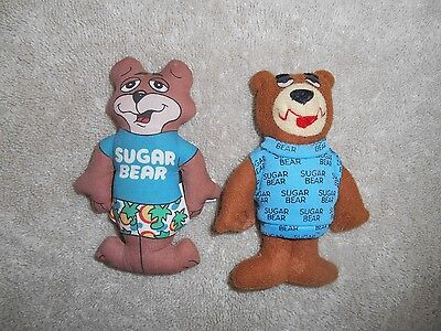 "Sugar Bear Two Plush Figures Post Cereal Promotions Approx 4.5"" So Cute!"