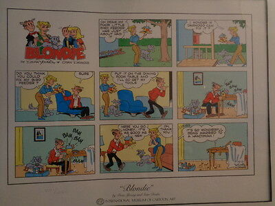BLONDIE Limited Edition Museum of Cartoon Art number print 1041/2500 Dean Young