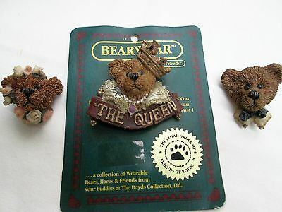 Boyd's Bearwear Pins Lot 3 Pc Includes The Queen