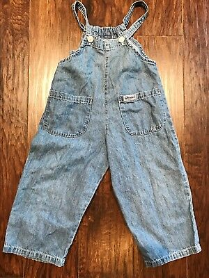 VINTAGE GUESS Jeans Overalls 2T Toddler Made In USA
