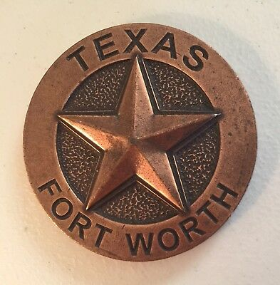 Fort Worth Texas Lonestar Metal Paperweight ~Mustang~Horses~Open House 2008*Rare