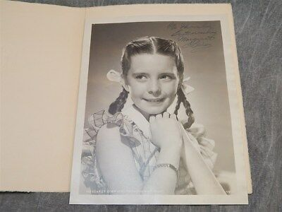 1940's MGM Photograph Signed by Margaret O'Brien to MGM employee