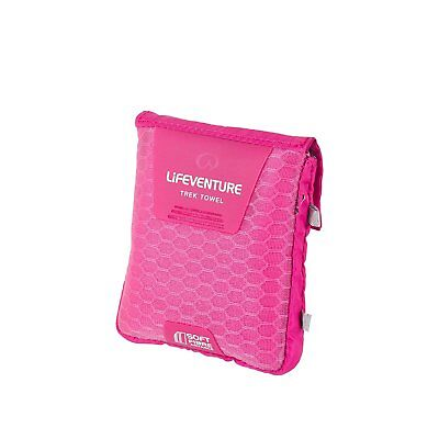 Lifeventure Soft Fibre Advance Trek Towel - Pink, Pocket
