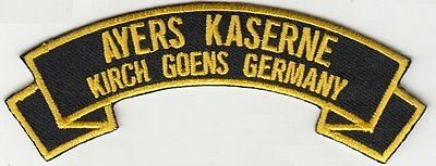 Ayers Kaserne, Kirch-Goens Germany embroidered patch