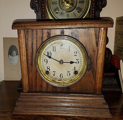 """Sessions"" Eight Day Key Wind Mantle Clock"