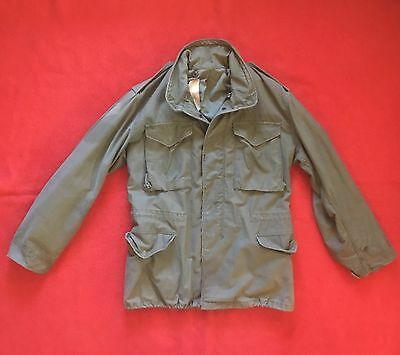 Vintage 1978 Post Vietnam Era M-65 Army Field Jacket Light Distress Medium