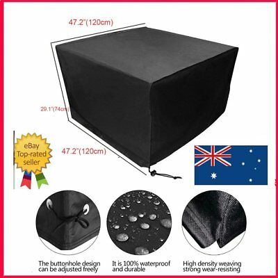 Heavy Duty Waterproof Rattan Cube Cover Outdoor Garden Furniture Protection AU