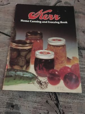 Kerr Home Canning & Freezing Book Cookbook